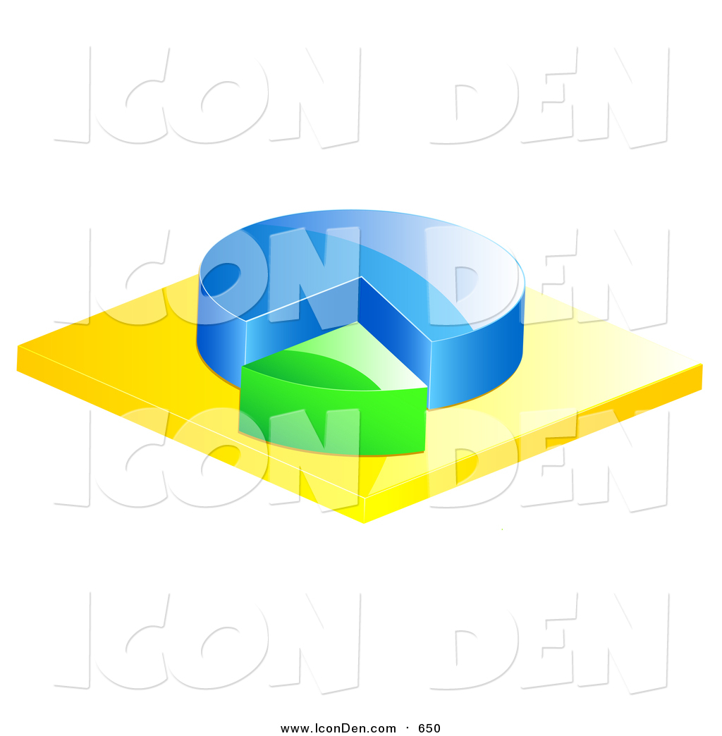 Clip Art Of A 3d Blue And Green Pie Chart By Elaineitalia 650
