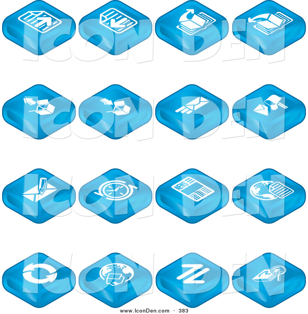 Clip Art of a Collection of Many Blue Web Browser Tablet ...