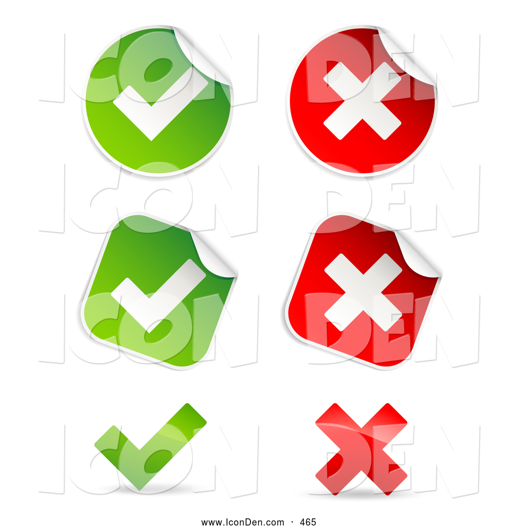 Clip art of a group of peeling square and circle green and red clip art of a group of peeling square and circle green and red check mark and buycottarizona