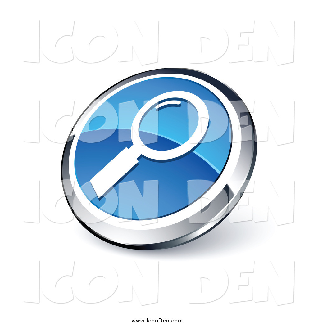 magnifying glass icon blue - photo #20