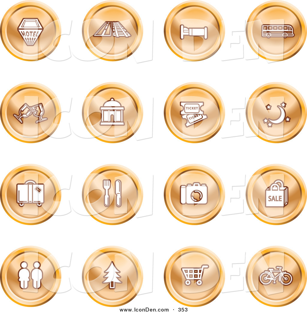 Royalty Free Camping Stock Icon Designs