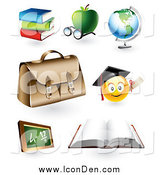 Clip Art of 3d Educational Icons by TA Images