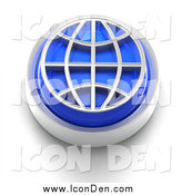 Clip Art of a 3d Blue Wire Globe Icon by Tonis Pan