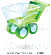 November 19th, 2013: Clip Art of a 3d Green and Blue Shopping Cart Icon by Cidepix