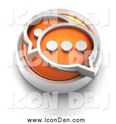 Clip Art of a 3d Orange Chat Icon by Tonis Pan