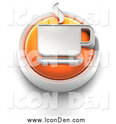 Clip Art of a 3d Orange Coffee Button by Tonis Pan