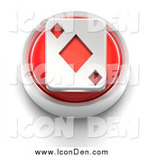 August 25th, 2014: Clip Art of a 3d Red Diamond Playing Card Icon by Tonis Pan