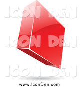 Clip Art of a 3d Shiny Floating Diamond Icon by Cidepix