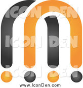 Clip Art of a Abstract Black and Orange Logo by Qiun