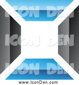 Clip Art of a Blue and Black Wall Icon by Cidepix