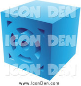 September 7th, 2014: Clip Art of a Blue Brick Icon by Cidepix