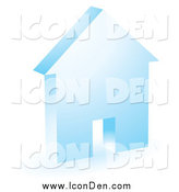 Clip Art of a Blue House Icon by KJ Pargeter