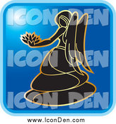 Clip Art of a Blue Square Virgo Astrology Icon Design by Lal Perera