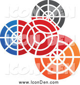 Clip Art of a Colorful Gear Icon by Cidepix