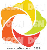 Clip Art of a Colorful Star Icon by Elena