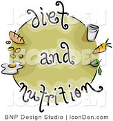 Clip Art of a Diet and Nutrition Food Icon by BNP Design Studio