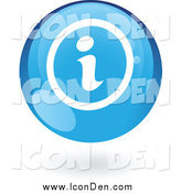 Clip Art of a Floating Round Glossy Blue Icon by Cidepix