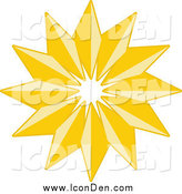 Clip Art of a Golden Christmas Star Icon by KJ Pargeter