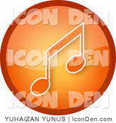 Clip Art of a Gradient Orange Music Icon by YUHAIZAN YUNUS