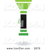 Clip Art of a Green and Black Flashlight Icon by Cidepix