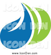 Clip Art of a Green and Blue Ecology Icon by Elena