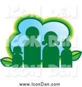 Clip Art of a Green Eco Family Icon Design by Lal Perera