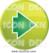 Clip Art of a Green Forward Arrow Internet Browser Button by Kheng Guan Toh