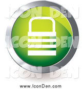 Clip Art of a Green Padlock Icon by Michaeltravers