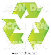 July 7th, 2014: Clip Art of a Green Recycle Arrow Icon by MilsiArt