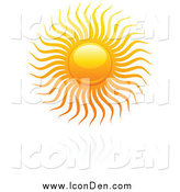 Clip Art of a Hot Summer Sun over a Reflection by Elena