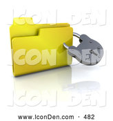 Clip Art of a Locked Secure Folder Icon with a Padlock by KJ Pargeter