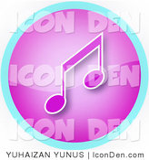 Clip Art of a Neon Blue and Purple Mp3 Icon by YUHAIZAN YUNUS
