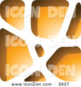 Clip Art of a Orange Stone like Paper Cut out Icon by Cidepix