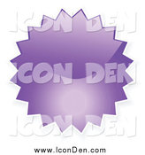 October 26th, 2014: Clip Art of a Purple Shiny Starburst Icon by KJ Pargeter