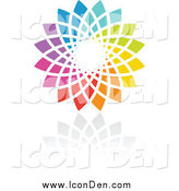 Clip Art of a Rainbow Circle Icon by Elena