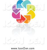 March 12nd, 2015: Clip Art of a Rainbow Circle Icon by Elena