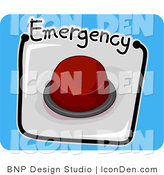 Clip Art of a Red Emergency Button Icon by BNP Design Studio