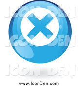 Clip Art of a Round Blue Error Web Icon by Cidepix