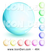 Clip Art of a Round Orb Set of Blue, Green, Purple, Red, Pink and Yellow Circles by Beboy