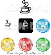 Clip Art of a Set of Different Colored Java Icon Buttons by AtStockIllustration
