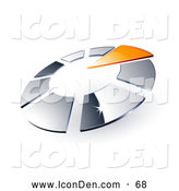 Clip Art of a Shiny Circle of Chrome Squares and One Orange Triangle Pointing Inwards, Resembling a Timer by Beboy