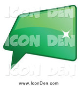 Clip Art of a Shiny Green Word, Chat or Speech Balloon Icon by KJ Pargeter