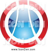Clip Art of a Shiny Red and Blue Orb Icon by Cidepix