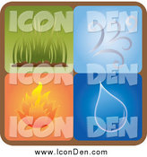December 13th, 2014: Clip Art of a Square Icon of Different Elements by Pams Clipart