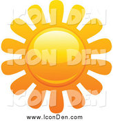 Clip Art of a Sun with Petal Rays Icon by Elena