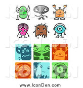Clip Art of Alien Icons by NL Shop