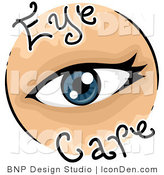 Clip Art of an Eye Care Vision Icon by BNP Design Studio