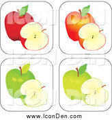 Clip Art of Apple Icons by