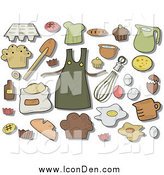 Clip Art of Baking Icons and Items by BNP Design Studio
