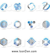Clip Art of Blue and Black Icons by Cidepix